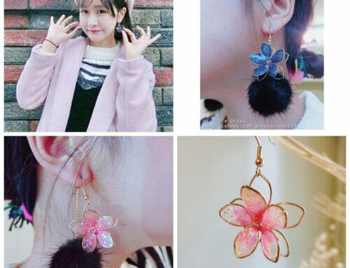 鐵絲花朵耳環手作教學。必學超簡單!!在家DIY樹脂UV鐵絲花朵耳環,一次就成功!!(耳環/手作/日本)